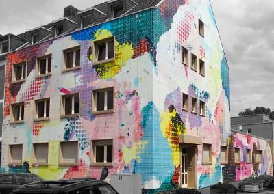 Haus foliert mit Digitaldruckfolie