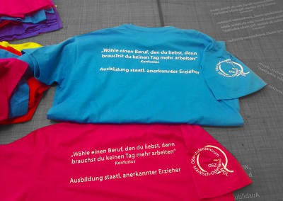 Flexfolientext auf T-Shirt