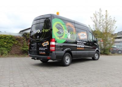 Teilfolierung Sprinter für die Firmen Sprayliner und HST
