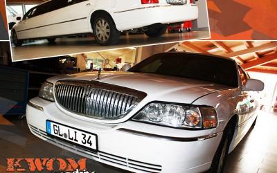 Limousine mit getönten Scheiben